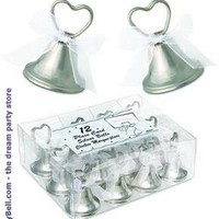 Silver Bell Place Card Holders for Christmas