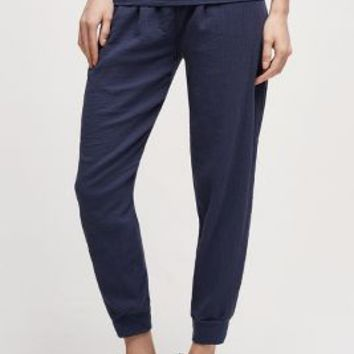 Stateside Foldover Joggers in Navy Size: