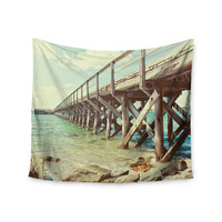 "Debbra Obertanec ""On The Pier"" Beach Wall Tapestry"