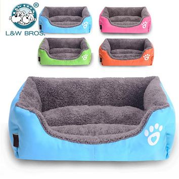 Rectangle Soft Dog House For Small Dog Middle Dog Mat Warm Cat Bed Nest Pet Sleeping Bag  Puppy Bed Cushion