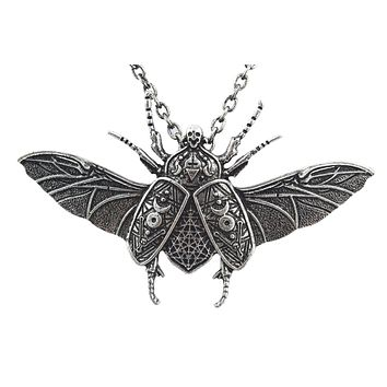 Occult Beetle Egyptian Beetle Pendant Necklace