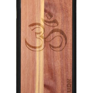 Slim Wooden Phone Case (Black) | Yoga Aum