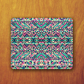 Colorful Aztec Mouse Pad Zig-Zag Triangle Square Abstract MousePad Lonely Office Pad Work Accessory Personalized Custom for Techer Gift