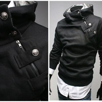 High Collar Assassin's Hoodie
