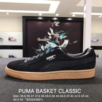 Puma Suede Classic Basket Black Brown Casual Shoes Sneaker - 362551-03