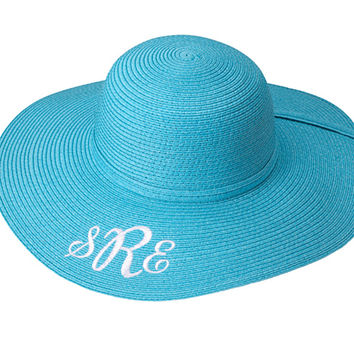 Monogrammed Floppy Hat (perfect for beach or gardening).