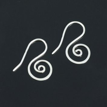 5.99-9.99 dollars Sterling silver scroll  earrings Free US Shipping handmade anni designs