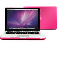 """GMYLE(R) Rose Hot Red Frosted Matte Rubber Coated Rubberized See Thru Hard Shell Clip Snap On Case Skin Cover for Apple 13.3"""" inches Macbook Pro Aluminum Unibody (not fit for 13 Macbook Pro with Retina display)"""