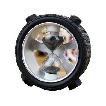 Personalized Tire 5 Minutes Sand Hourglasses Timer Clock Decoration Sandglass Ornament Table Clock Exquisite Home Decor Crafts