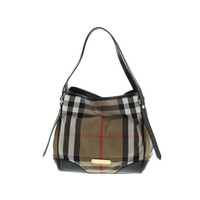 Burberry Womens Bridle Twill House Check Tote Handbag
