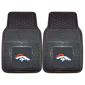 Denver Broncos NFL Heavy Duty 2-Piece Vinyl Car Mats (18x27)