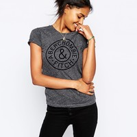 Abercrombie & Fitch Core Flock Logo Tee