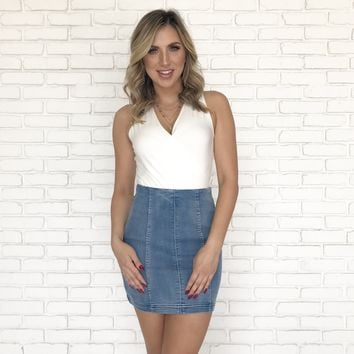 Adina Denim Mini Skirt