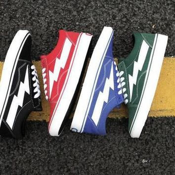 REVENGE x STORM NEW KANYE VAN Slow-Top & High-Top Canvas Shoes Laced Up Casual Shoes