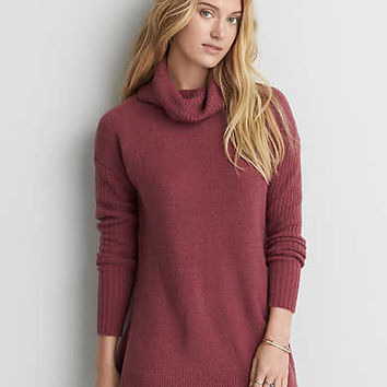 AEO Ahh-mazingly Soft Turtleneck Sweater, Pink