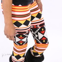 Addiction Girl v.2 leggings ~ aztec tribal CUTE skinny NEW tight pants +YOUTUBE