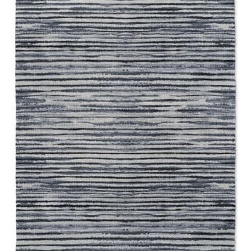 WABI SABI STRIPE BLUE Area Rug By Becky Bailey
