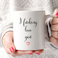 I Love You Coffee Mug, Gift for Husband