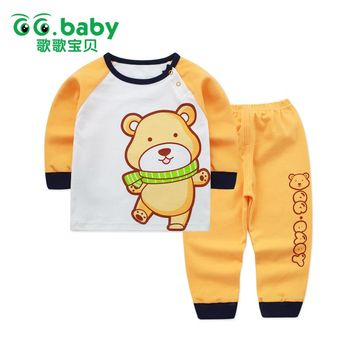 2pcs/set Cotton Bear Baby Clothing Set Long Sleeve Newborn Baby Boy Sets Clothes Baby Girl Outfit Toddler Suit For Boy Pajamas
