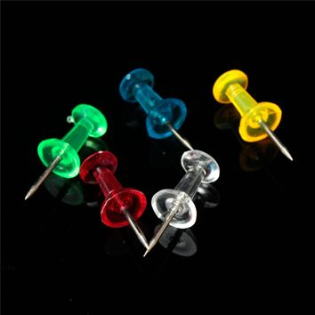 40 50 100PCS Hot Multiple Colored Standard Push Pins Map Push Pins Tacks Stationery Office Accessories School Supplies 23*8.4mm