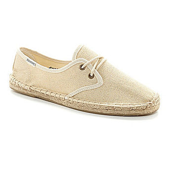Soludos Metallic Linen Derby Lace-Up Espadrilles - Gold