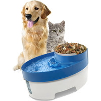 3 in 1 Pet Water Fountain Dog Cat Puppy Feeder Bowl Blue Color Electric Drinking Food Bowl cat drinking fontaine pet dog bowl
