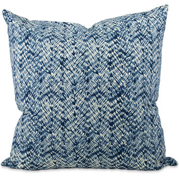 Resist Indigo Quilted Pillow