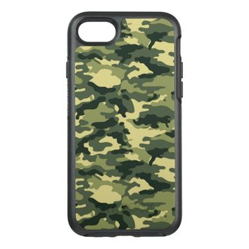 Green Camouflage Pattern OtterBox Symmetry iPhone 7 Case