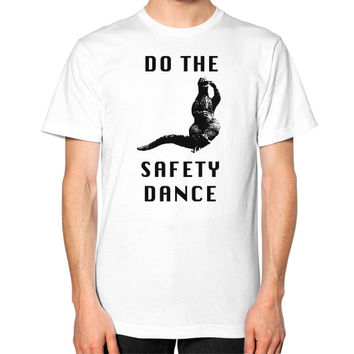 Godzilla safety dance Unisex T-Shirt (on man)