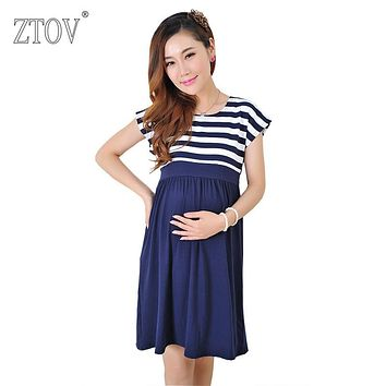 ZTOV Women Long Dresses Maternity Nursing Dress for Pregnant Women Pregnancy Women's dress Clothing Mother Home Clothes L/XL/XXL
