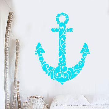 Vinyl Wall Decal Abstract Anchor Sea Ocean Sailor Stickers (2324ig)