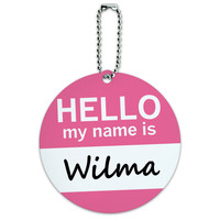 Wilma Hello My Name Is Round ID Card Luggage Tag