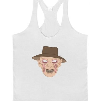 Scary Face With a Hat - Halloween Mens String Tank Top