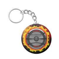 Colorful Loud Music Speaker Dancing Party Keychain