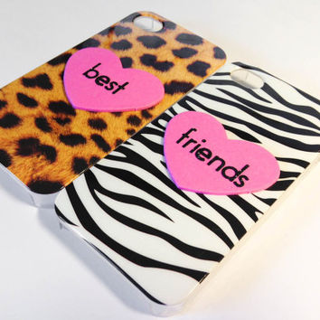 Best Friends iPhone 4/4S cases  Cheetah & Zebra by VanityCases