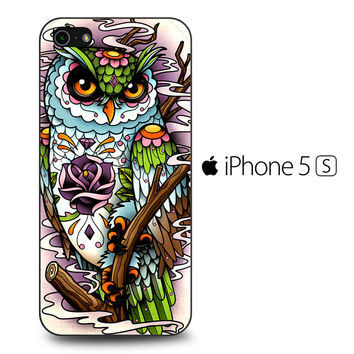 Sugar Skull Owl Tattoo iPhone 5S Case