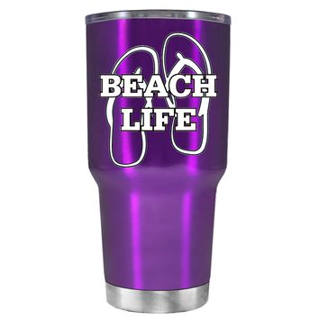 The Beach Life Sandals on Violet 30 oz Tumbler Cup