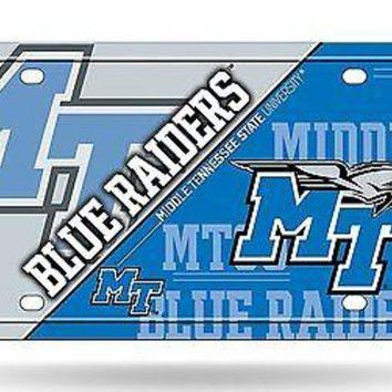 VONE05W5 Middle Tennessee State Blue Raiders MTSU NSD Metal License Plate Tag University