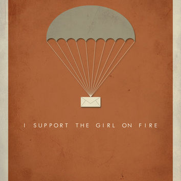 Hunger Games Inspired / I Support The Girl On Fire Poster / Katniss Everdeen