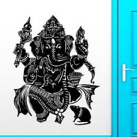 Wall Stickers Vinyl Decal God Ganesha India Hindu Religion Decor Unique Gift (ig1858)