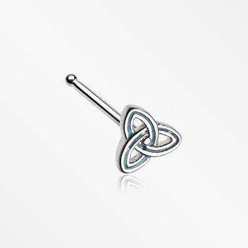 Triquetra Trinity Knot Nose Stud Ring