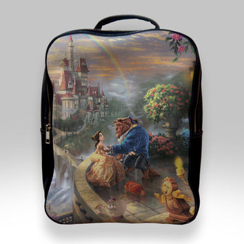 Backpack for Student - Beauty and The Beast Dancing Bags