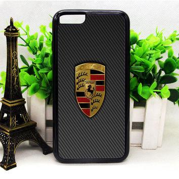 PORSCHE LOGO GREY IPHONE 6 | 6 PLUS | 6S | 6S PLUS CASES