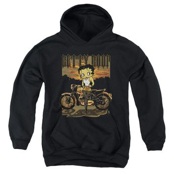 Betty Boop - Rebel Rider Youth Pull Over Hoodie