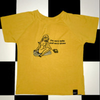 SWEET LORD O'MIGHTY! CUTIE CROP TEE IN YELLOW