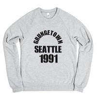 Grungetown Seattle 1991-Unisex Heather Grey Sweatshirt