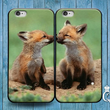 iPhone 4 4s 5 5s 5c 6 6s plus iPod Touch 4th 5th 6th Generation Cute Best Friend Couple Bf Gf BF BFF Fox Foxes Phone Cover Adorable Fun Case