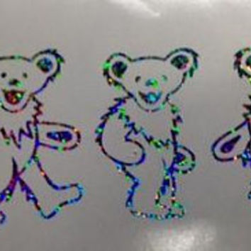 Grateful Dead Holographic Dancing Bears Decal