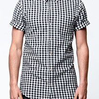On The Byas Grids Woven Shirt - Mens Shirt - Black