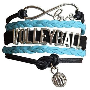 Girls Volleyball Infinity Bracelet